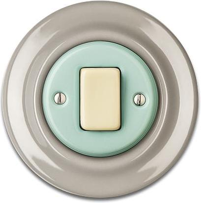 Porcelain switches - a single gang - FAT ()  - ROBUS | Katy Paty