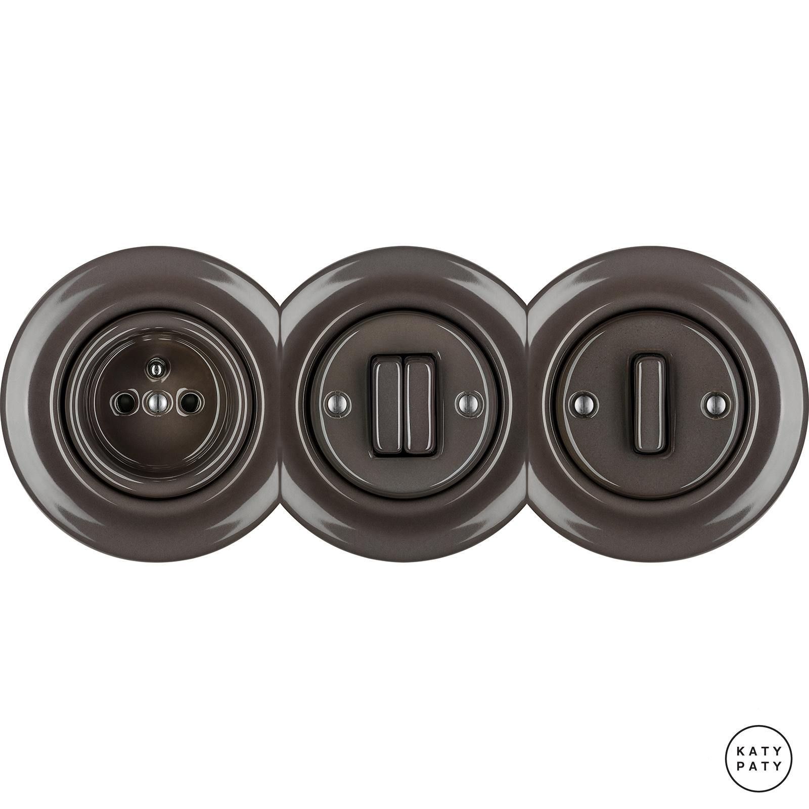 Porcelain Toggle switches - 1 gang - multiple X ()  - BRUNETUM | Katy Paty