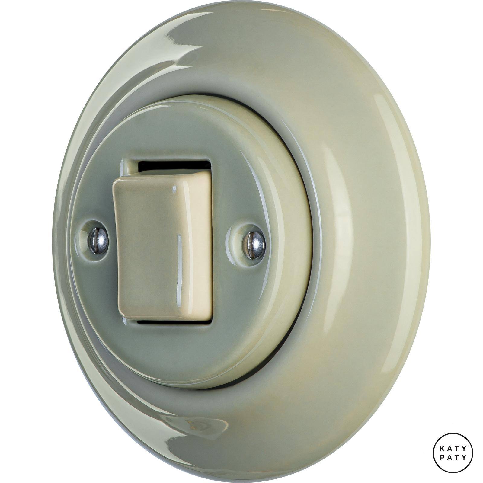 Porcelain switches - a single gang - FAT ()  - CHLORA | Katy Paty
