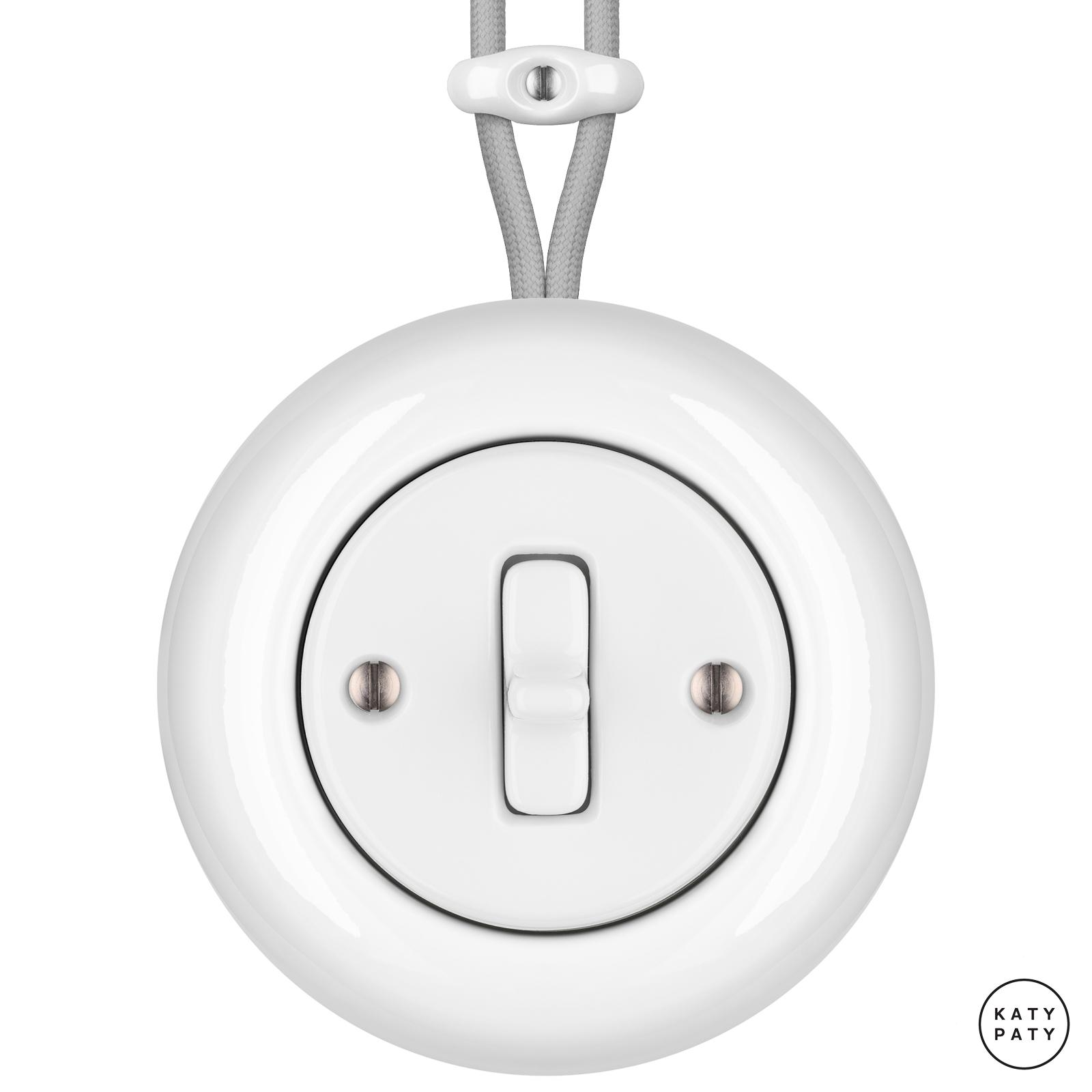 Porcelain toggle switches - 1 gang ()  - ALBA | Katy Paty