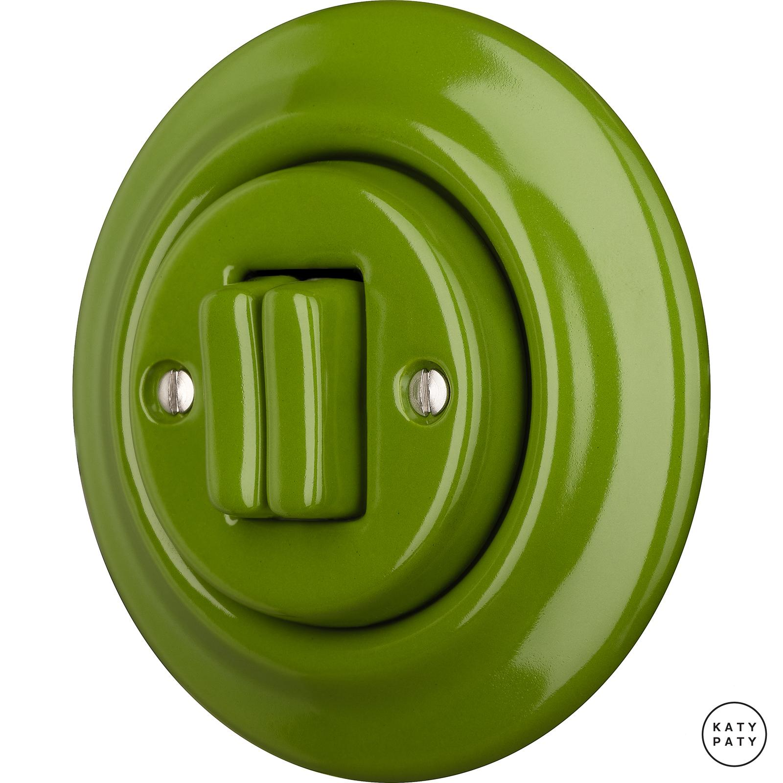 Porcelain switches - a 2 gang ()  - NITOR CHLORA | Katy Paty