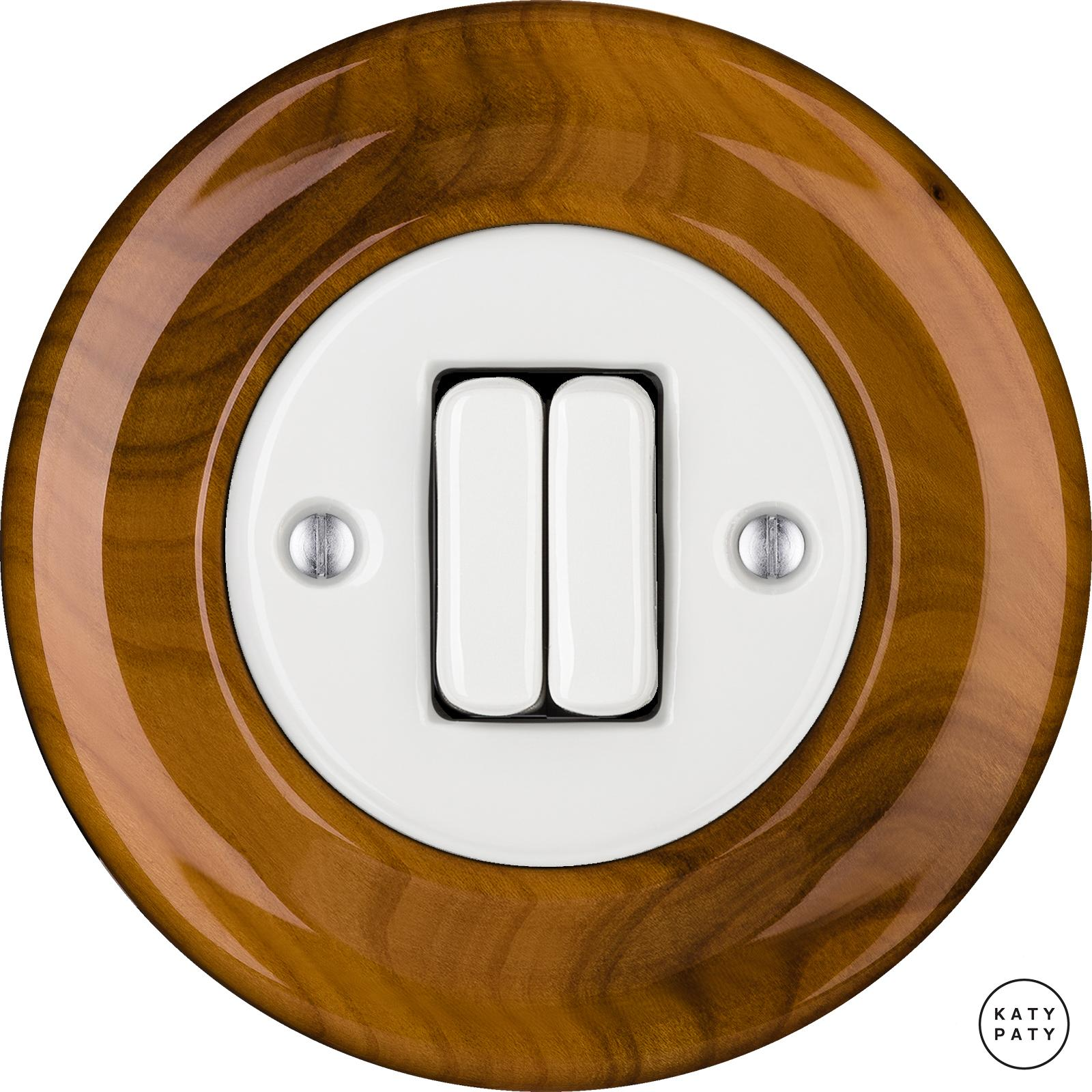 Porcelain switches - a 2 gang ()  - PADELUS | Katy Paty