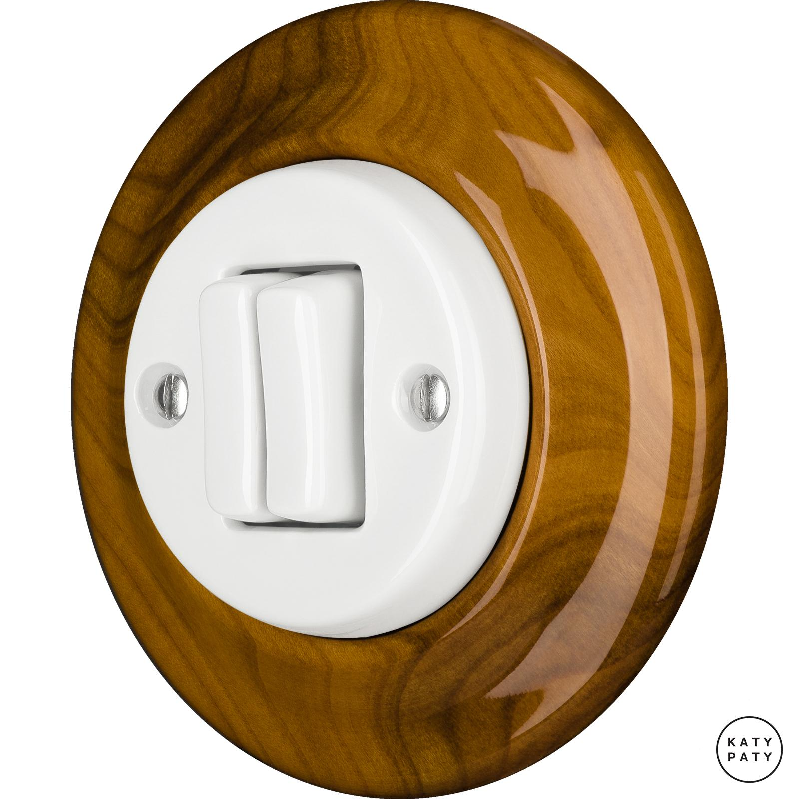 Porcelain switches - a double gang ()  - PADELUS | Katy Paty