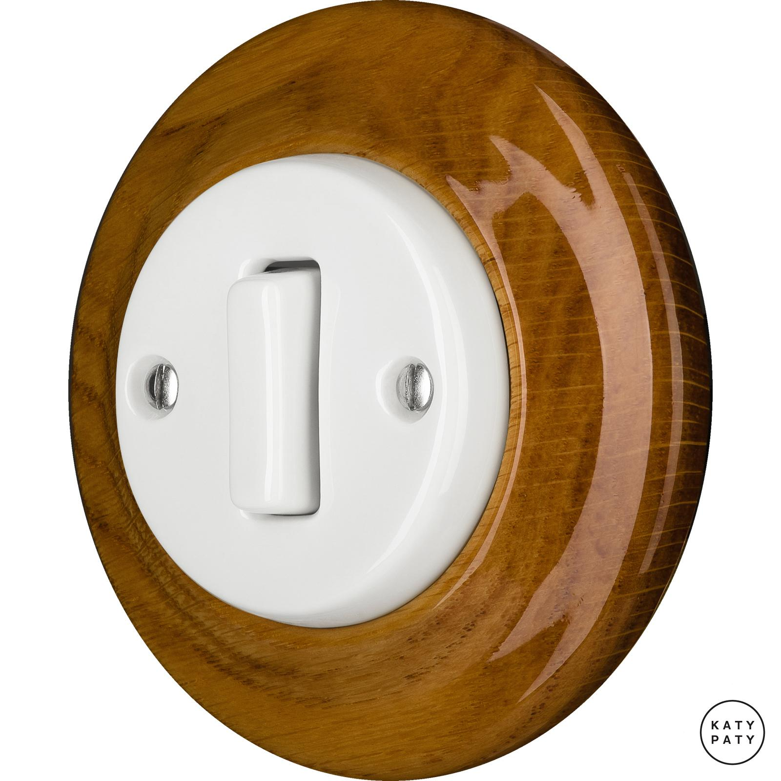 Porcelain switches - a single gang - SLIM ()  - ROBUS | Katy Paty
