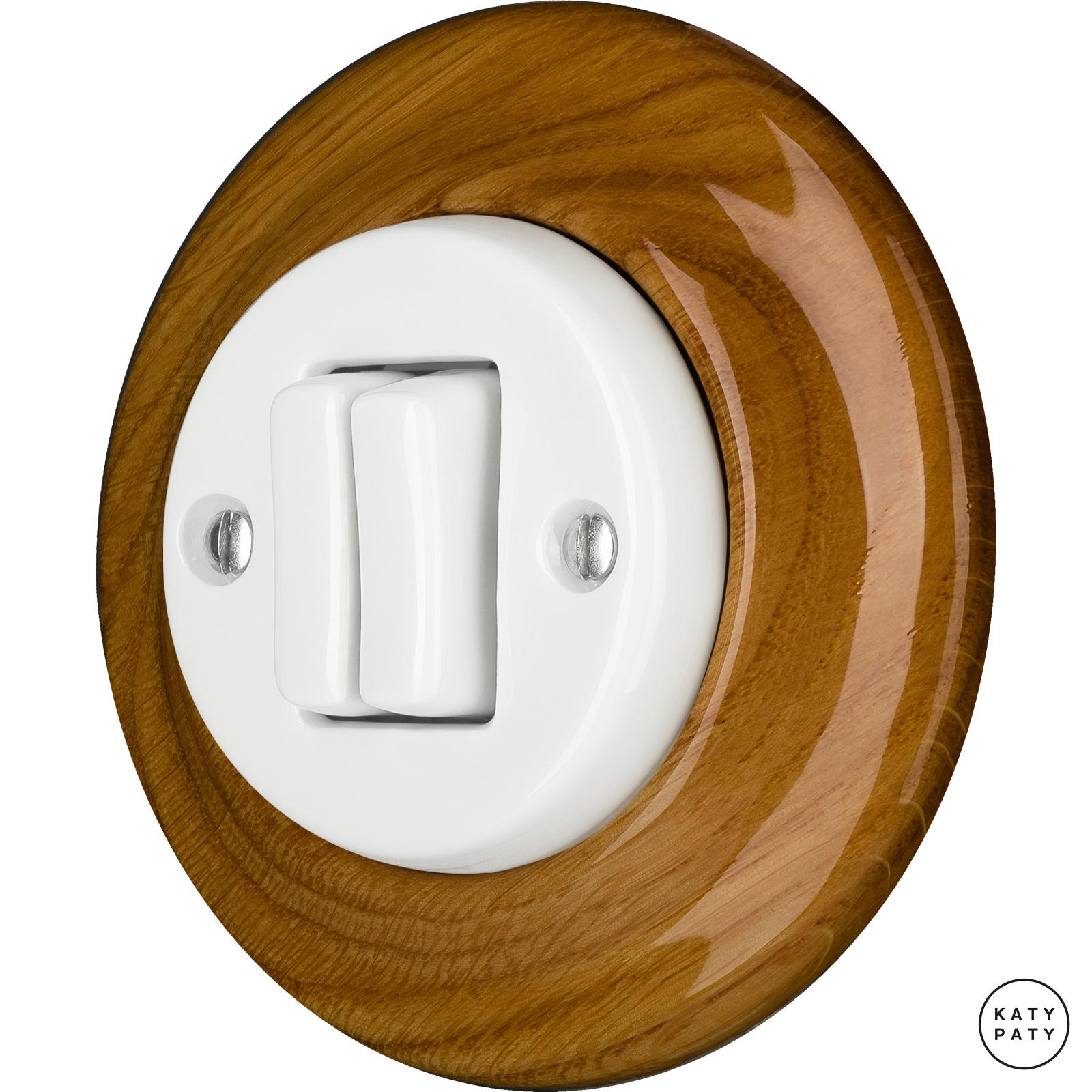 Porcelain switches - a 2 gang ()  - ROBUS | Katy Paty
