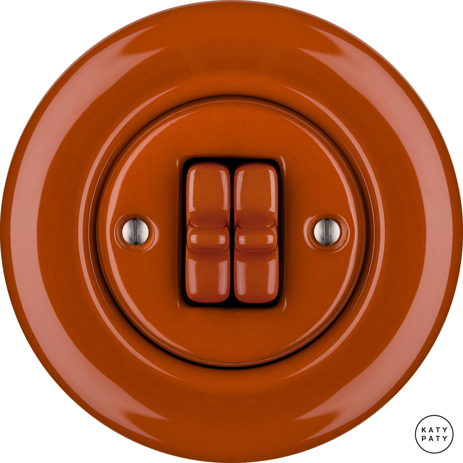 Porcelain toggle switches - a double gang ()  - AURANTIA | Katy Paty