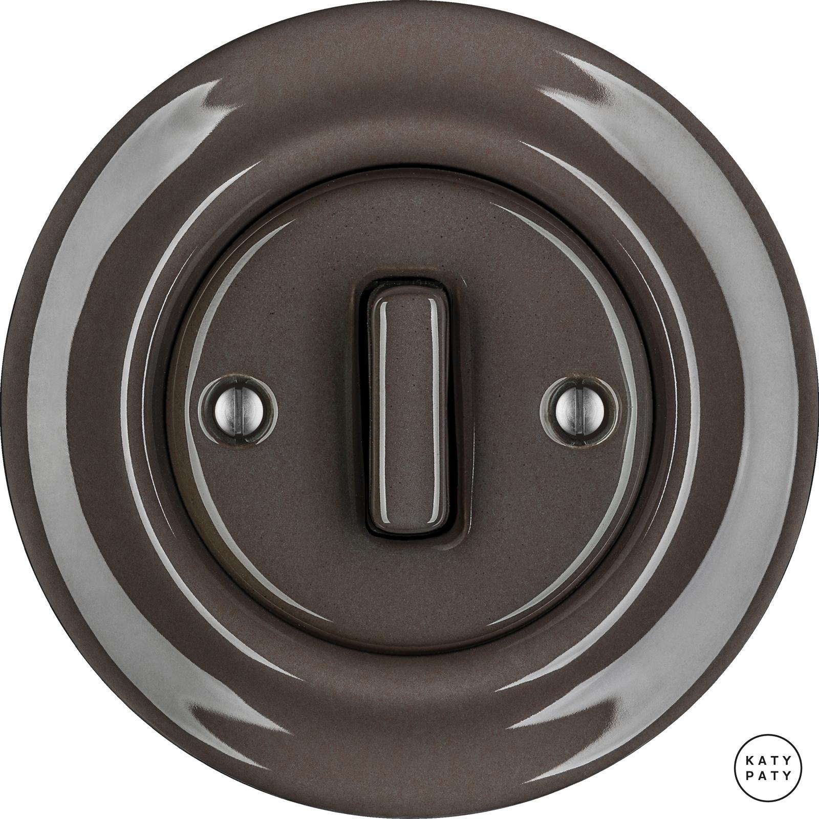 Porcelain switches - 1 gang - SLIM ()  - BRUNETUM | Katy Paty