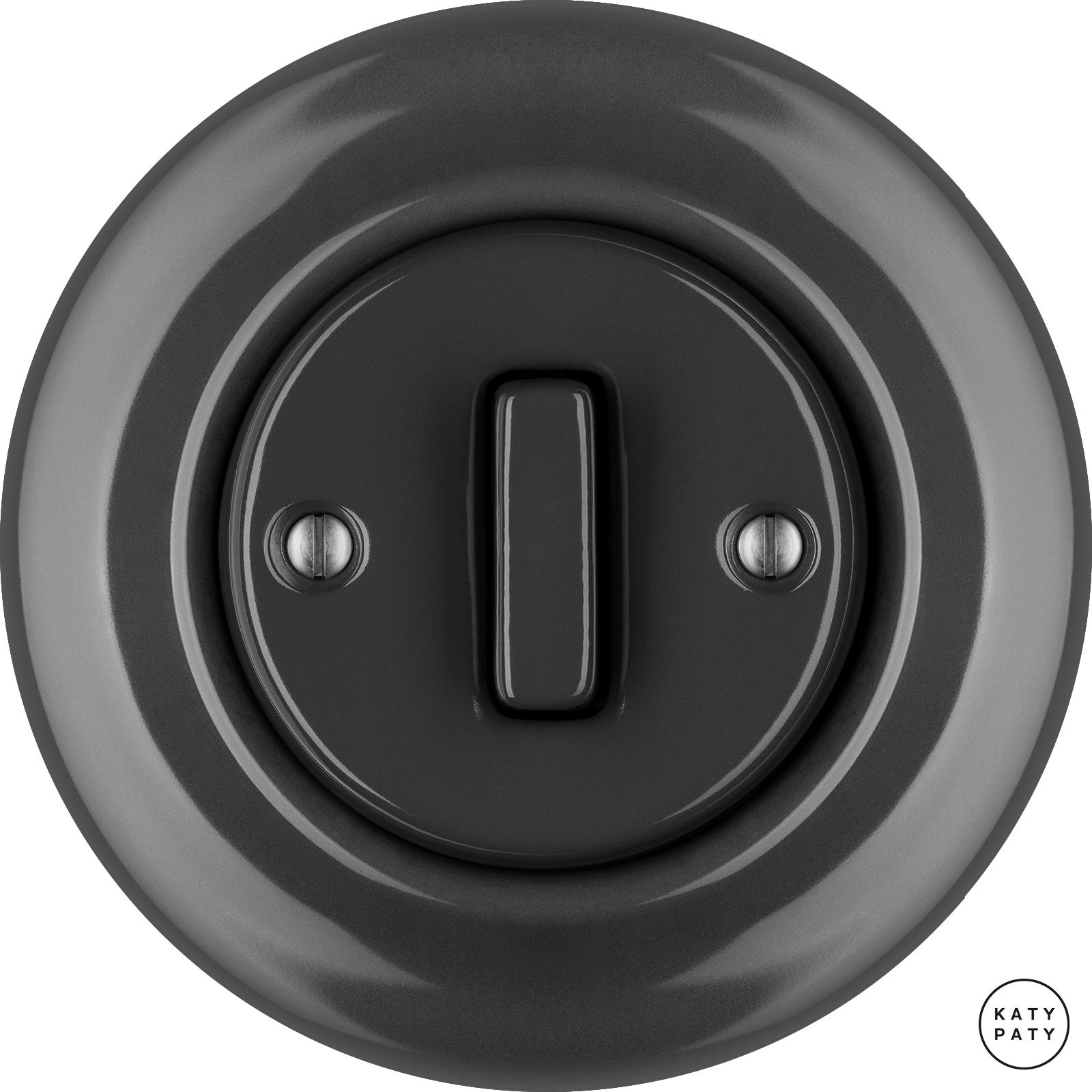 Porcelain switches - 1 gang - SLIM ()  - GRISEA | Katy Paty