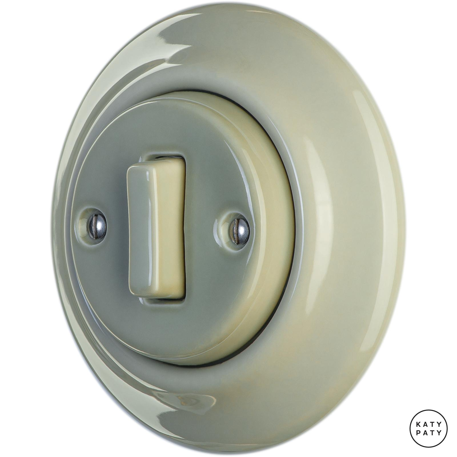 Porcelain switches - a single gang - SLIM ()  - CHLORA | Katy Paty