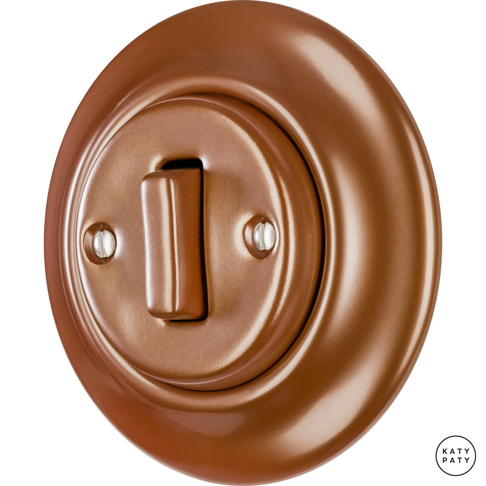 Porcelain switches - 1 gang - SLIM ()  - CUPRUM | Katy Paty