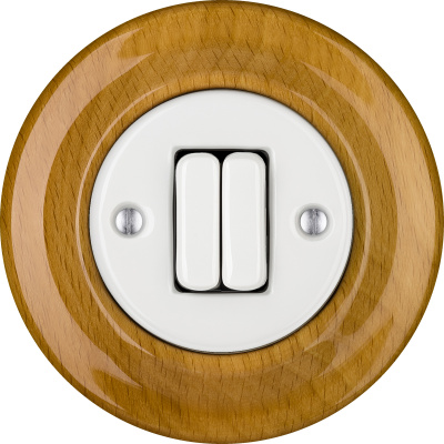 Porcelain switches - a double gang ()  - FAGUS | Katy Paty