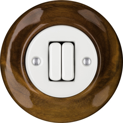 Porcelain switches - a 2 gang ()  - NUC MAG | Katy Paty
