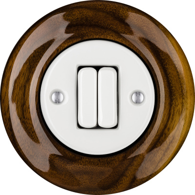 Porcelain switches - a 2 gang ()  - NUCLEUS | Katy Paty