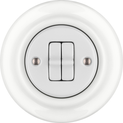 Porcelain toggle switches - a double gang ()  - ALBA | Katy Paty