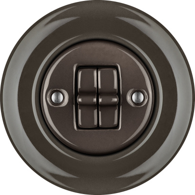 Porcelain toggle switches - a double gang ()  - BRUNETUM | Katy Paty