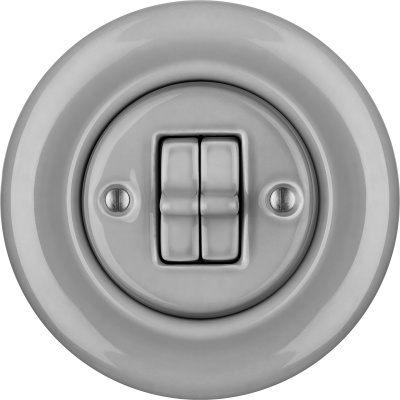 Porcelain toggle switches - a double gang ()  - CANA | Katy Paty