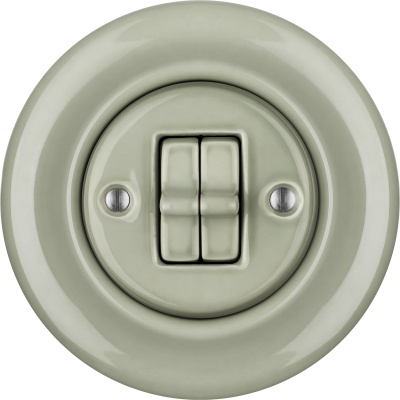 Porcelain toggle switches - a 2 gang ()  - CHLORA | Katy Paty