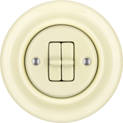 Porcelain toggle switches - a double gang ()  - PNOE FLAVA | Katy Paty