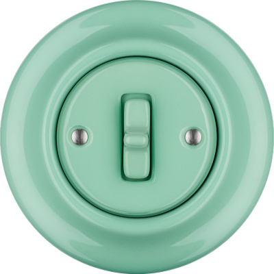 Porcelain Toggle switches - 1 gang ()  - PNOE MENTOL | Katy Paty