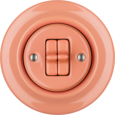 Porcelain toggle switches - a double gang ()  - PNOE SALMO | Katy Paty