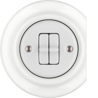 Porcelain toggle switches - a 2 gang - multiple X ()  - ALBA | Katy Paty