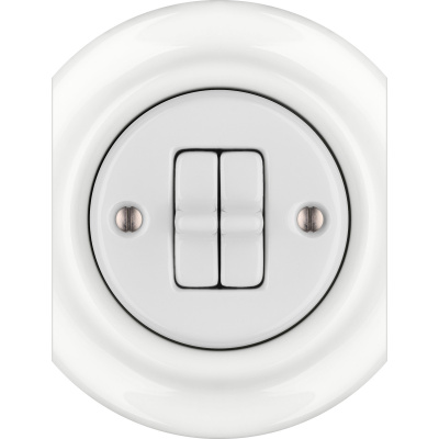 Porcelain toggle switches - a double gang - multiple X ()  - ALBA | Katy Paty