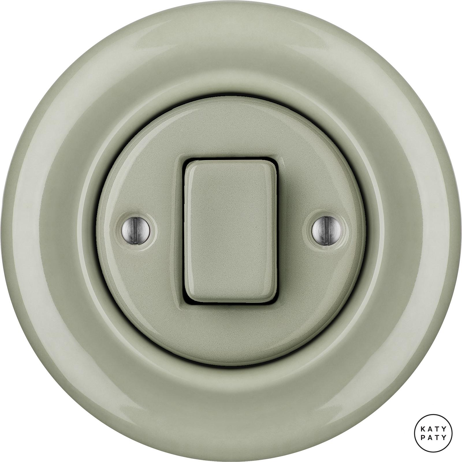 Porcelain switches - 1 key - FAT ()  - CHLORA | Katy Paty