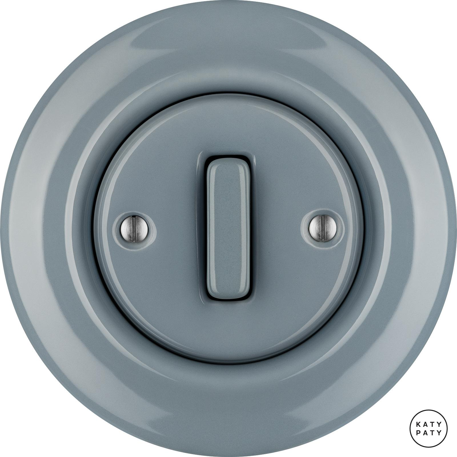 Porcelain switches - 1 gang - SLIM ()  - LIVOR | Katy Paty