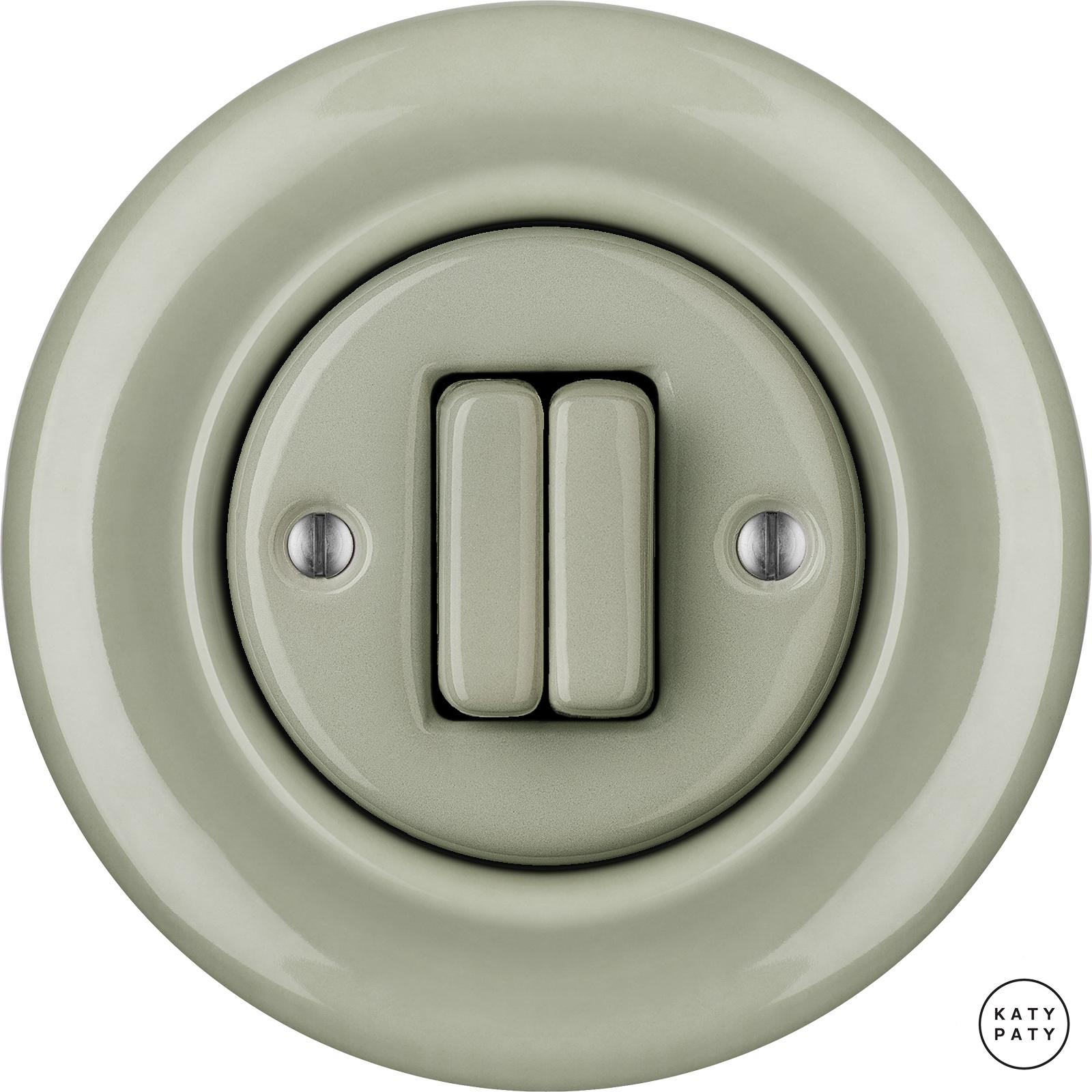 Porcelain switches - a 2 gang ()  - CHLORA | Katy Paty