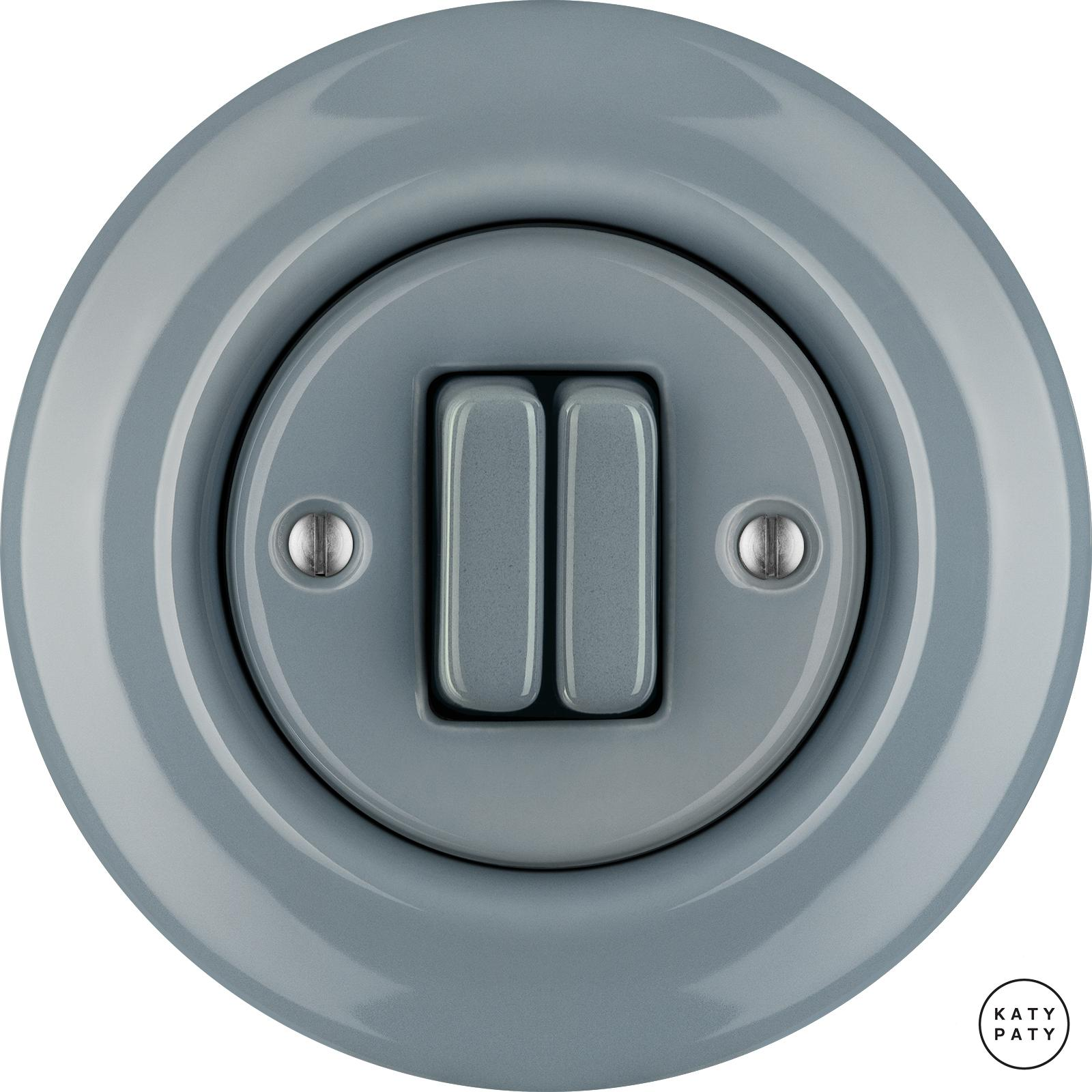 Porcelain switches - a double gang ()  - LIVOR | Katy Paty