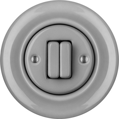 Porcelain switches - a double gang ()  - CANA | Katy Paty