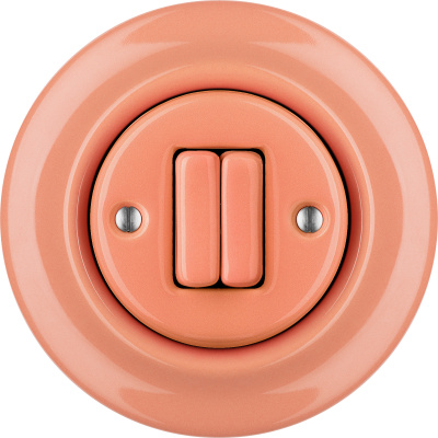 Porcelain switches - a double gang ()  - PNOE SALMO | Katy Paty