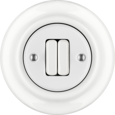 Porcelain switches - a double gang ()  - ALBA | Katy Paty
