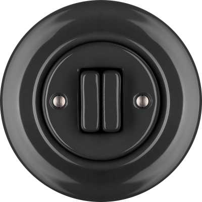Porcelain switches - a double gang ()  - GRISEA | Katy Paty