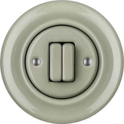 Porcelain switches - a double gang ()  - CHLORA | Katy Paty