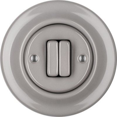 Porcelain switches - a double gang ()  - LUCIDUM | Katy Paty