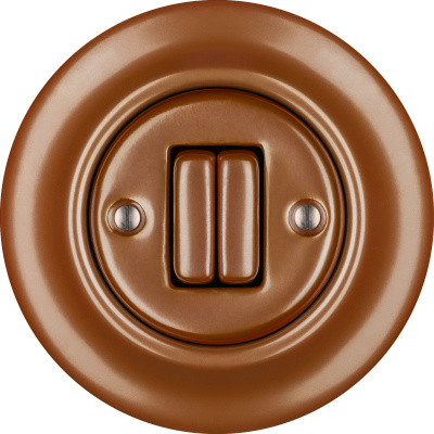 Porcelain switches - a double gang ()  - CUPRUM | Katy Paty